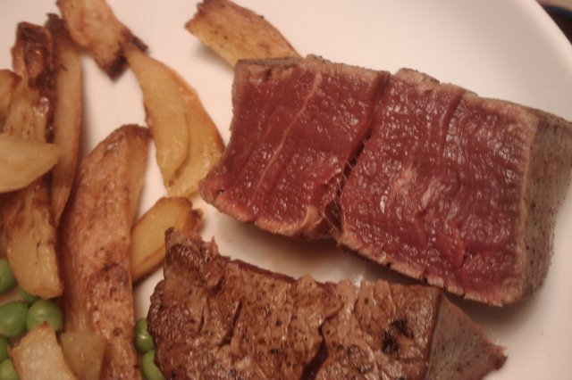 Blue Steak and Chips