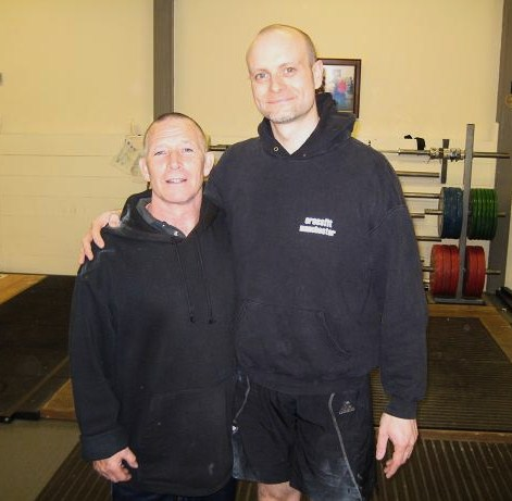 Pat Atteridge and me at Bethnal Green Weightlifting Club
