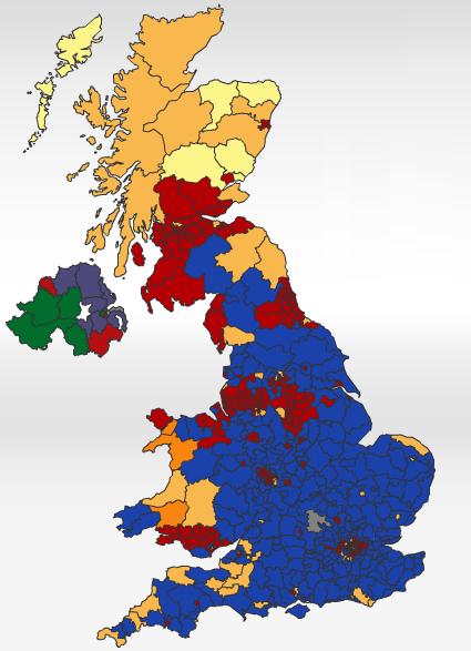 UK Election Map 2010