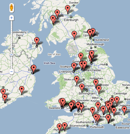 CrossFit Affiliated Boxes England, Scotland, Wales, Ireland