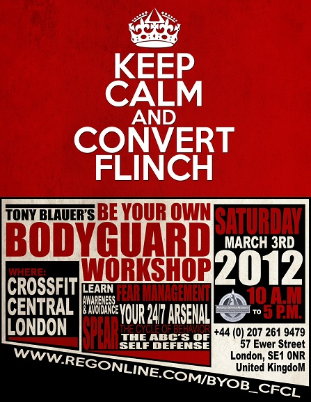Tony Blauer's Be Your Own Bodgyguard Flyer | Personal Defence Readiness | SPEAR System