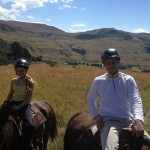 Horse riding in the Drakansburg mountains of South Africa